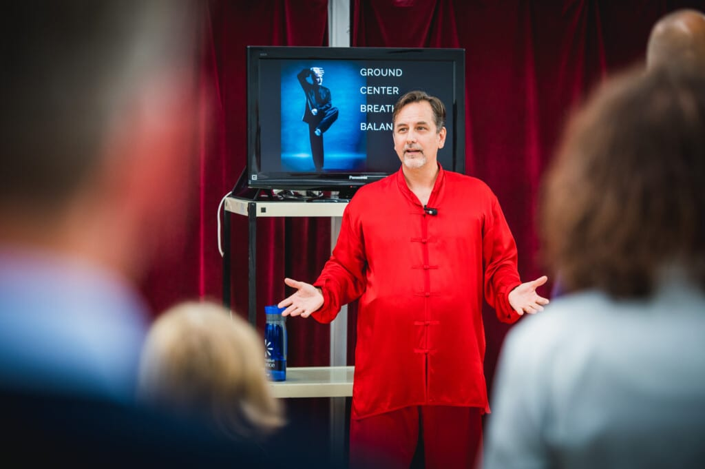 Ron Navarre teaching Tai Chi
